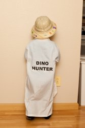 Andrew's Paleontologist costume - back