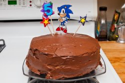 Will's Sonic triple chocolate cake