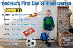 Andrew's First Day of Kindergarten
