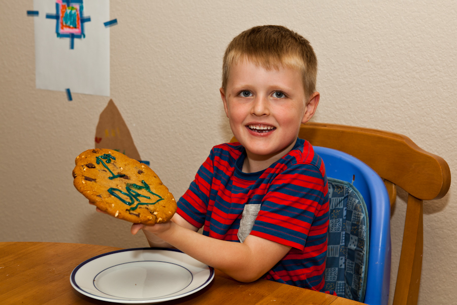 Will's Giant First Day of Kindergarten Cookie