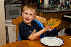 Andrew's Giant First Day of Kindergarten Cookie