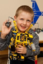 Andrew shows off Emmet's Construct-o-Mech