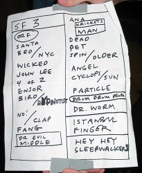 Setlist from the third and final night, April 30, 2003