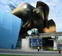 Science Fiction Museum and the back of the EMP