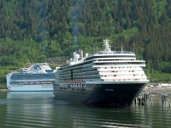 The Diamond Princess and Holland America Oosterdam