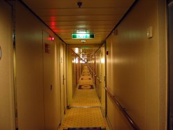 Our hallway, deck 3 port side, mid-ship