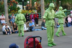 Army Men Parade in California Adventure