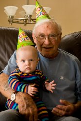 Great-Grandpa Jack and Andrew -- Happy Birthday Bumpa!