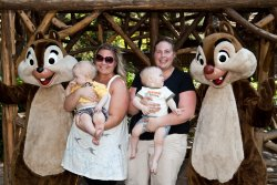 Will, Aunt Jessie, Andy and Bekki with Chip and Dale