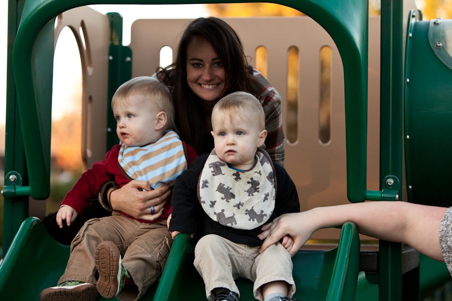 Will, Tori and Andy on the slide