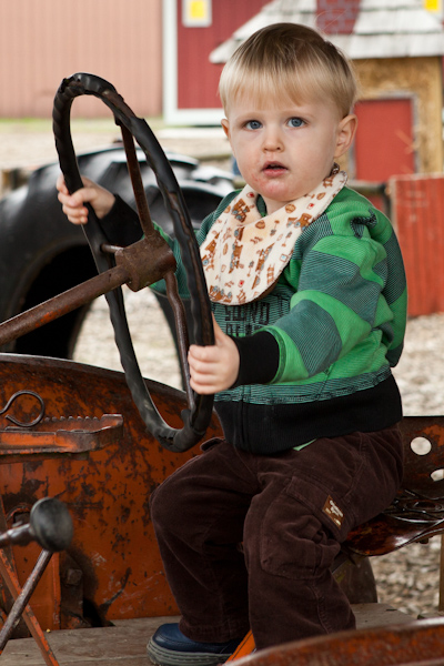 William driving the tractor