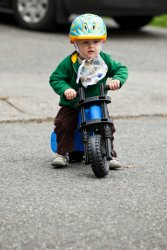 William on his bike