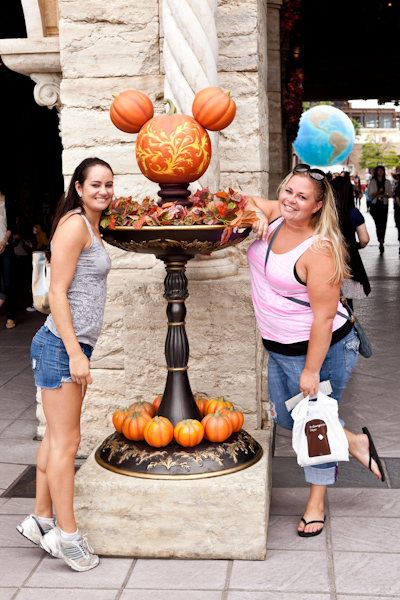 Tori and Jessie and the Mickey pumpkins