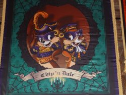 Chip and Dale Halloween banner