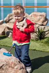 Will on the miniature golf course
