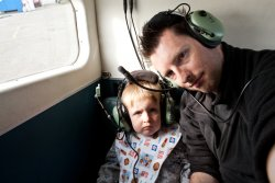 Andrew and Adam in the back of the plane