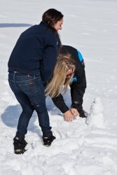 Tori and Jessie build a snowmidget