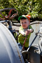 Will drives a Tractor at Remlinger Farms