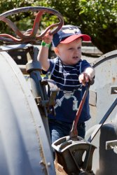 Andrew drives a Tractor at Remlinger Farms