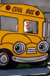 "Will in the ""Cool Bus"""