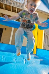 Will in the bounce house