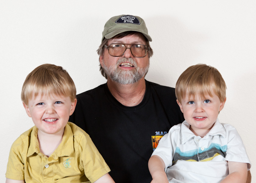 Will and Andrew with Grandpa Allen