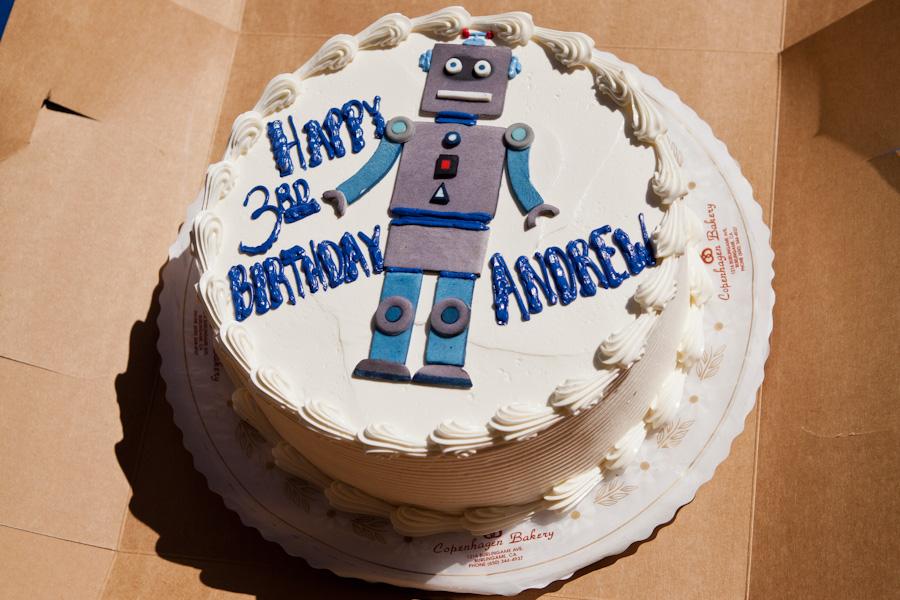 Andrew S Robot Birthday Cake