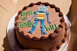 Will's robot birthday cake