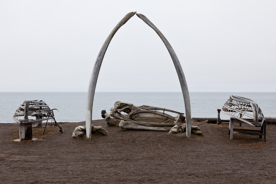 Barrow Whale Bone Arch (plus boat frames)