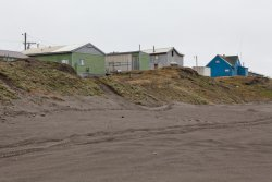 Some Barrow buildings from the beach