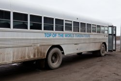 The Top of the World tour bus