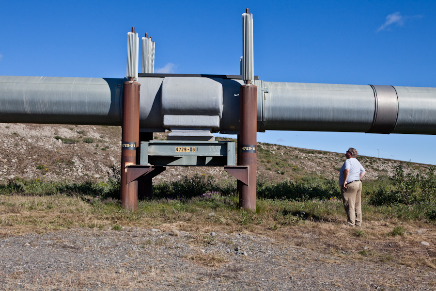 Alan examines the pipeline