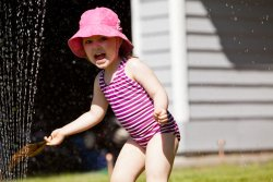 Kate in the sprinkler 4