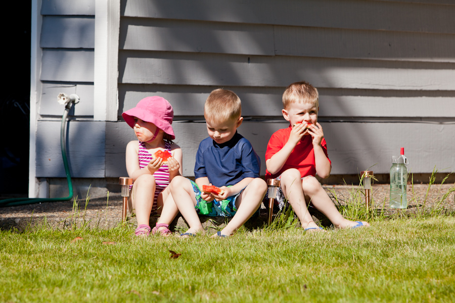 Kate, Andrew, Will and Watermelon 3