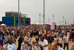 A few more people at Olympic Park