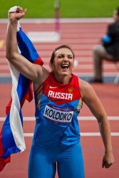 Russian Shot Putter Evgeniia Kolodko Celebrates 2