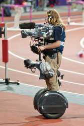 Cameraman on a Segway in the Olympic Stadium