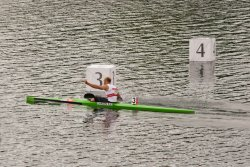Norway's Eirik Veras Larsen wins gold in Men's Kayak Single (K1) 1000m Canoe Sprint