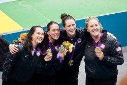 USA's Maggie Steffens, Elsie Windes, Jessica Steffens and Melissa Seidemann (1)