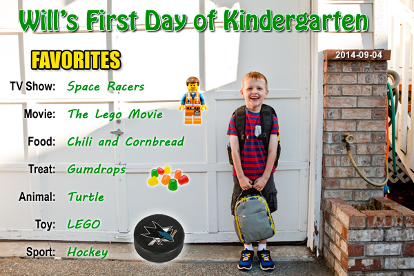 Will's First Day of Kindergarten