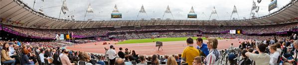 2012 Olympic Stadium Panorama from Row 9