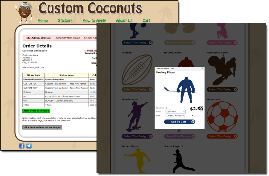 Custom Coconuts screenshots