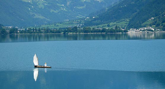 Boat in a lake near Switzerland